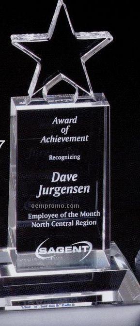 "Star Gallery Crystal Champion Pedestal Star Award (7"")"