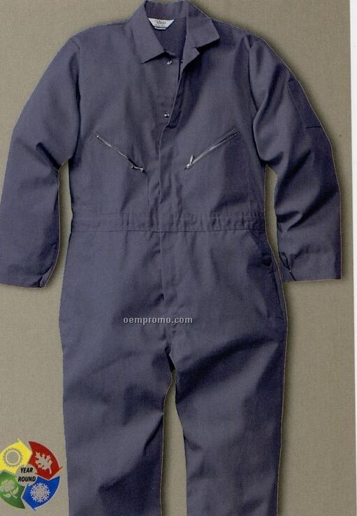 Walls Cotton Poly Non Insulated Coveralls - Navy Blue