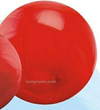 """16"""" Inflatable Translucent Red Beach Ball"""