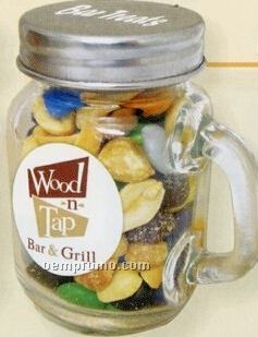 mini glass mason jar w handle w gourmet jelly beans china wholesale mini glass mason jar w. Black Bedroom Furniture Sets. Home Design Ideas
