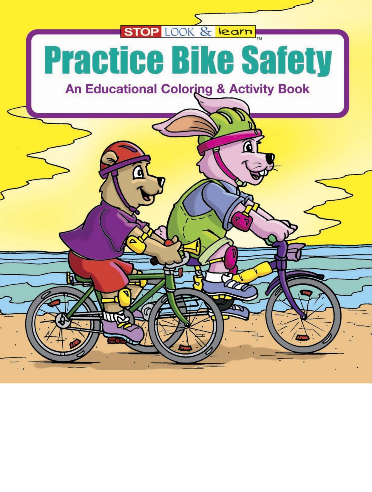 Practice Bike Safety Coloring Book Fun Pack