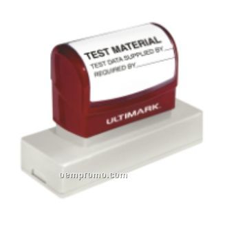 "Ultimark Pre-inked Rubber Stamp - 1.813""X0.563"" Imprint Area"