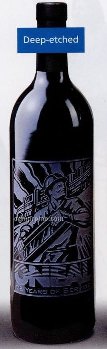 Cabernet / Chardonnay Or Champagne - 750 Ml (Deep Etched, No Color Fill)