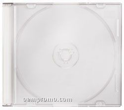 Slim 5.2mm CD DVD Vcd Jewel Case Slim Clear Top And White Base