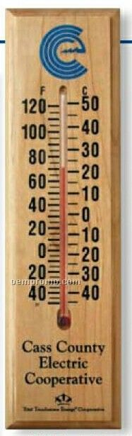 Wood Indoor/ Outdoor Thermometer (Maple)