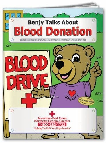 Action Pack Coloring Book W/ Crayons & Sleeve - Blood Donation
