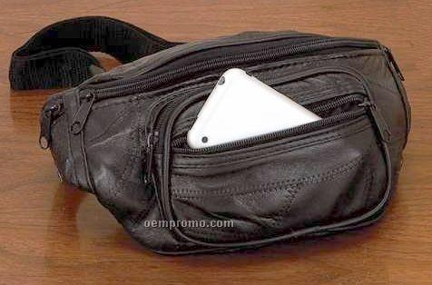 Italian Mosaic Genuine Lambskin Leather Belt Bag/Fanny Bag