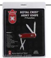 Royal Crest Recruit Army Knife W/ Leymar Handle (Clam Shell Package)