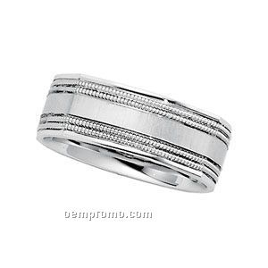 14kw 7mm Ladies' Comfort Fit Wedding Band Ring (Size 7)