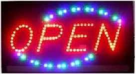 """27"""" Red, Blue & Green Open LED Sign"""