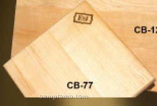 "Cutting Board: 7.5""X7.5""X0.75"" Laser Engraved"