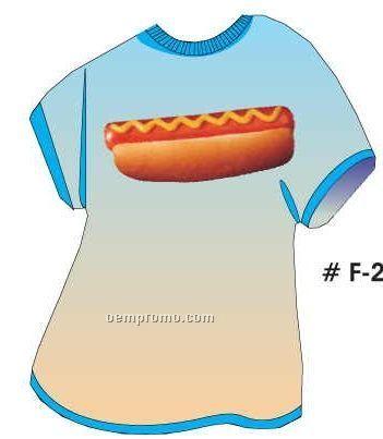 Hotdog T Shirt Acrylic Coaster W/ Felt Back