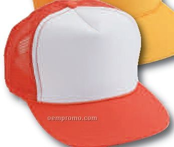 Adult Summer Mesh Cap With White Front