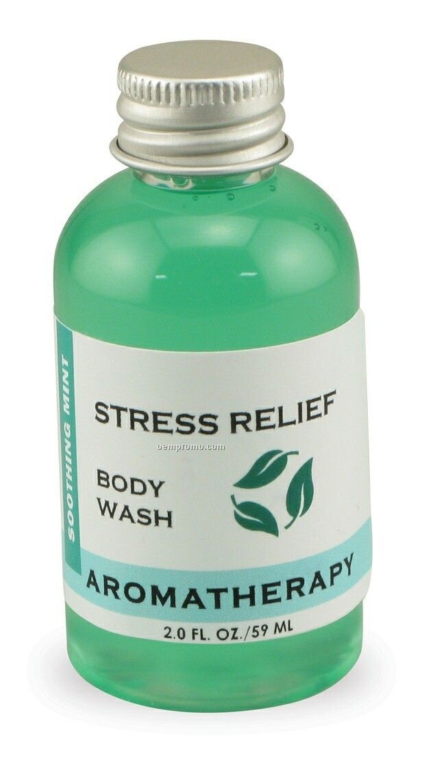 2 Oz. Soothing Mint Stress Relief Aromatherapy Body Wash
