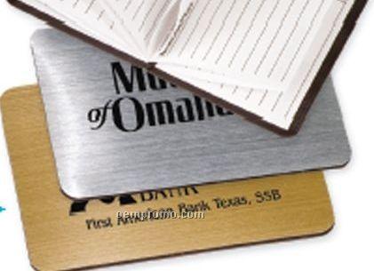 Metallic Magnetic Telephone Index (Satin Gold/ Brushed Silver)