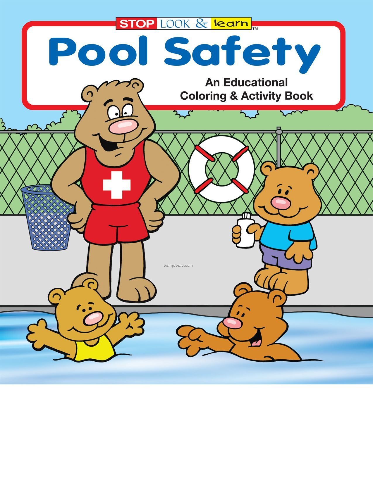 Pool Safety Coloring Book Fun Pack