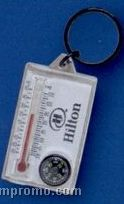 Thermometer / Compass W/ Economical Key Ring