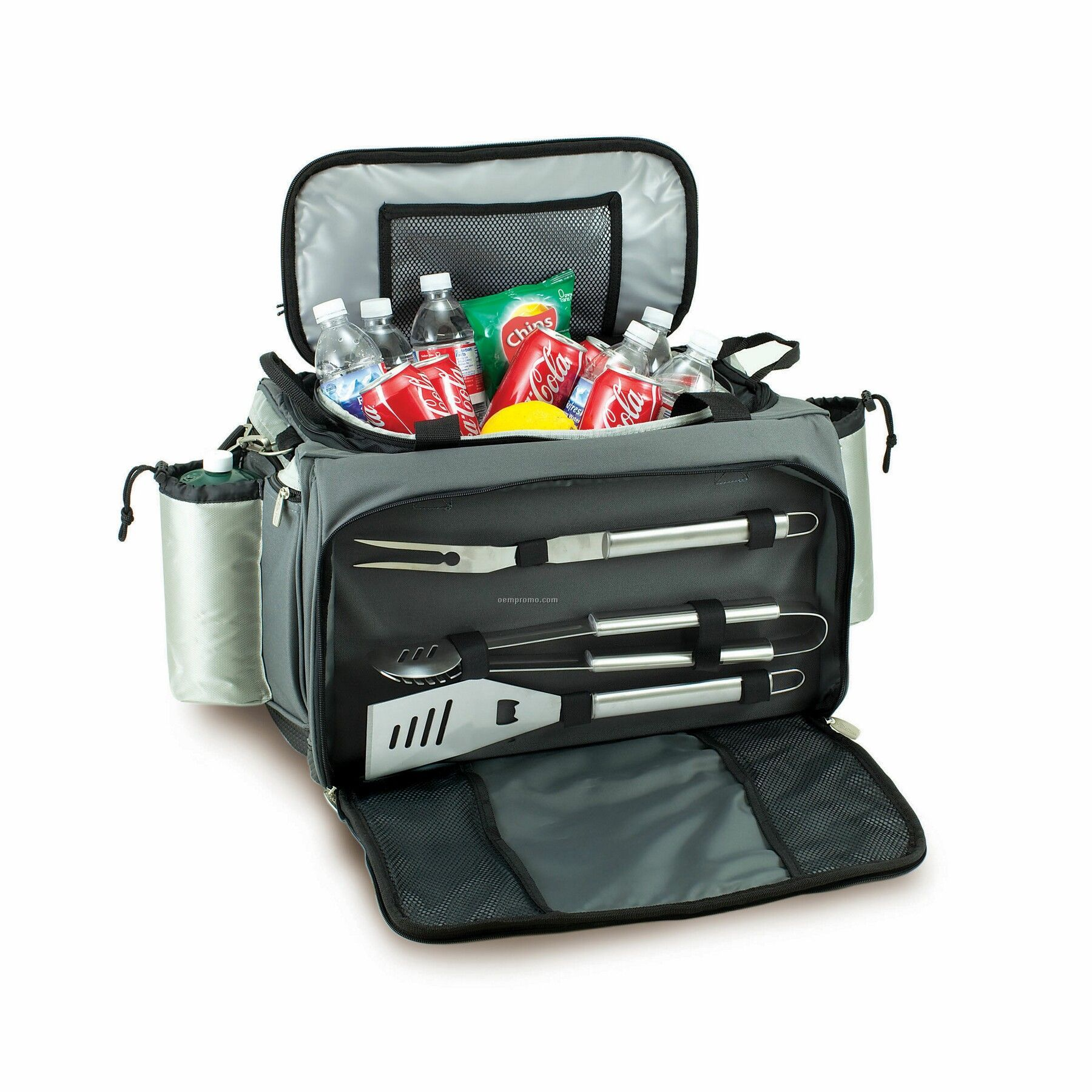 Vulcan Tailgating Cooler Tote W/ Gas Grill & 3 Bbq Tools