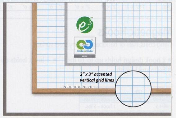 "1""X1"" Gridded Magnetic Dry Erase Board (48""X72"")"