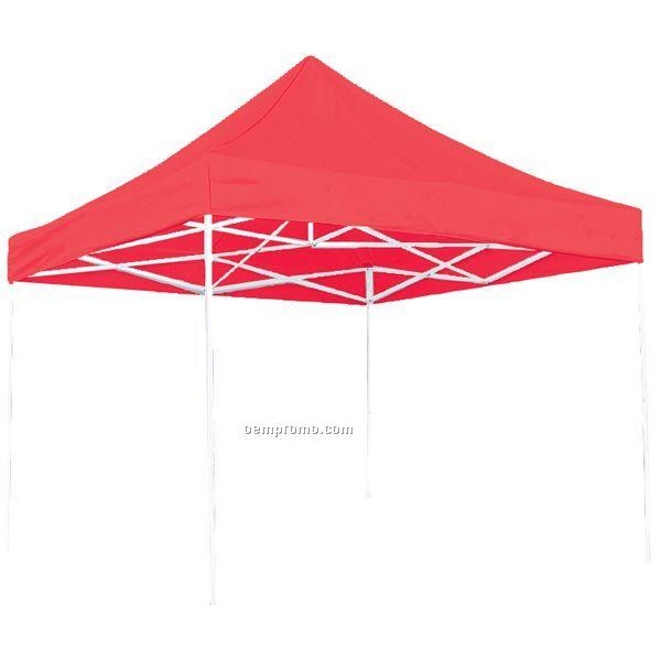 10' Square Red Tent - Unimprinted
