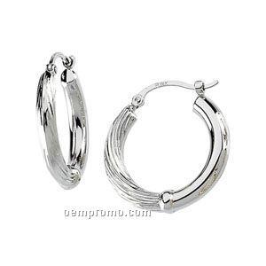 14kw 20-1/2mm Ladies' Hoop Earring