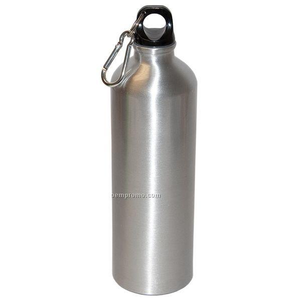 25 Oz. Aluminum Water Bottle W/ Carabiner (Blank)