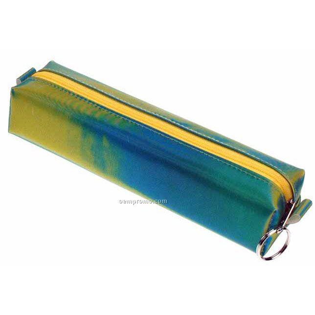 Blue/Green/Yellow Globo 3d Lenticular Pencil Case (Stock)