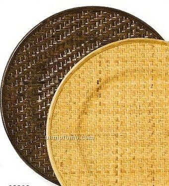 Elegance Lifestyle Weave/ Dark Brown Round Charger - Set Of 4