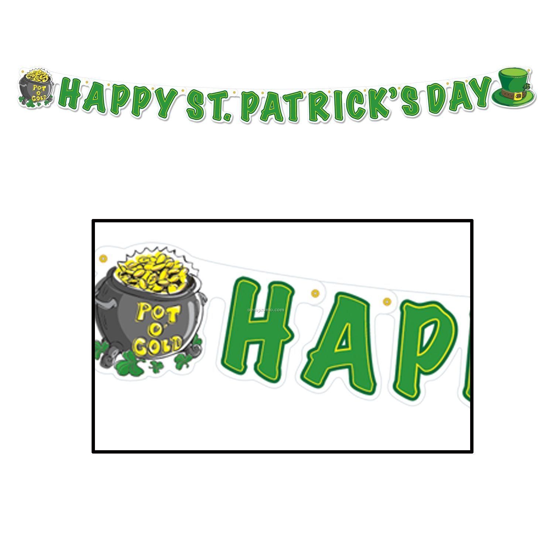 Shamrock Happy St. Patrick's Day Streamer