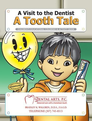 Fun Pack Coloring Book W/ Crayons - A Visit To The Dentist