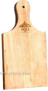 """Paddle Shaped Cutting Board - Hand Cut Wood (12""""X5""""X0.5"""") Laser Engraved"""