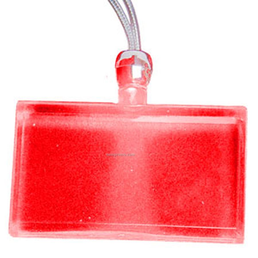 Red Rectangle Light Up Pendant Necklace