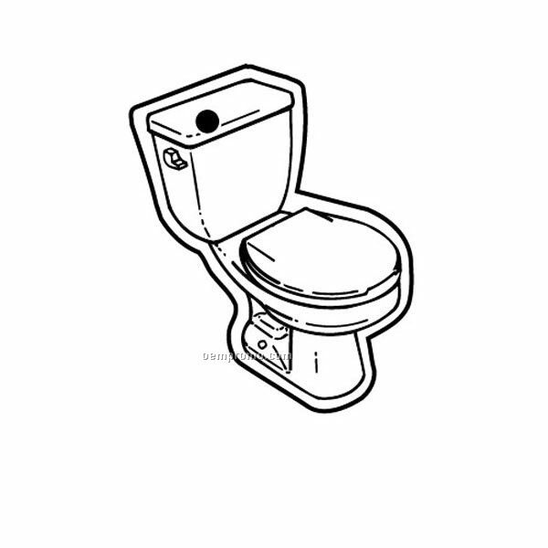 Stock Shape Collection Toilet 2 Key Tag