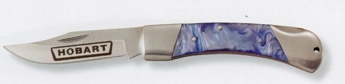 Blue Velvet Pocket Knife