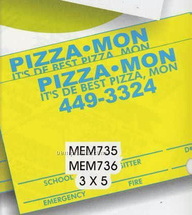 """Permanent Surface Write-on Memo Magnet - 3""""X5"""" Rectangle"""