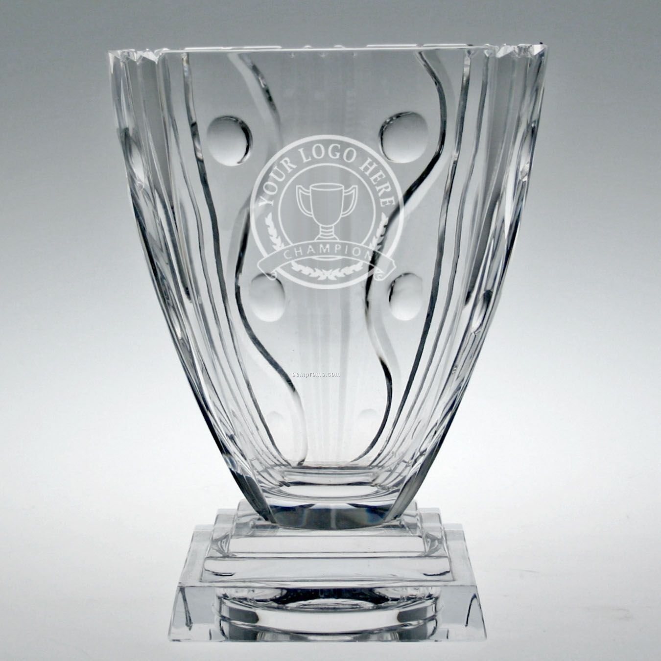 Small Deco Pedestal Trophy Vase