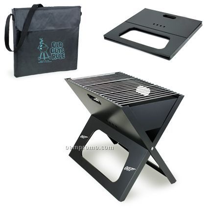 X-grill Folding Charcoal Bbq Grill W/ Polyester Shoulder Tote