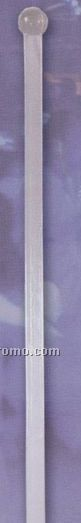 """6"""" Standard Triangle Prism Stirrer With Ball-end (Crystal Clear)"""