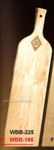 """Wine Bottle Shaped Bread Board: 18""""X5""""X3/4"""" - Laser Engraved"""