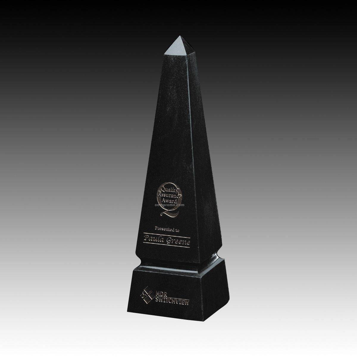 """10"""" Grooved Obelisk Marble Award"""