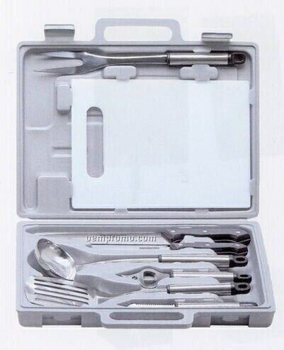 9 Piece Stainless Steel Camp/Barbecue Set