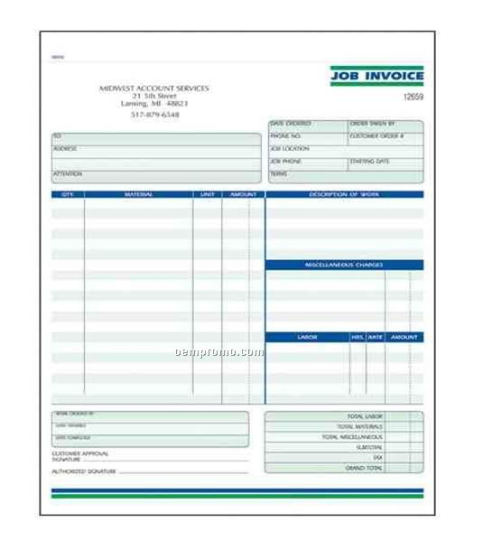 "Carbonless Ncr Forms 8-1/2"" X 11""- 4 Part - 1 Side - Multicolor Ink"