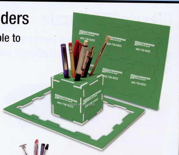Cube Pen Holder & Puzzle