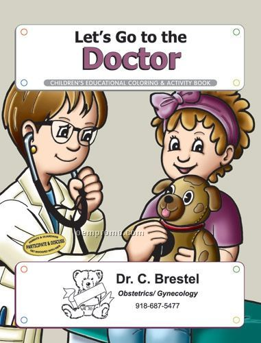 Fun Pack Coloring Book W/ Crayons - Let's Go To The Doctor
