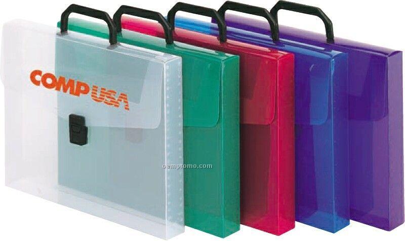 Handled Pocket Folder With Buckle Closure