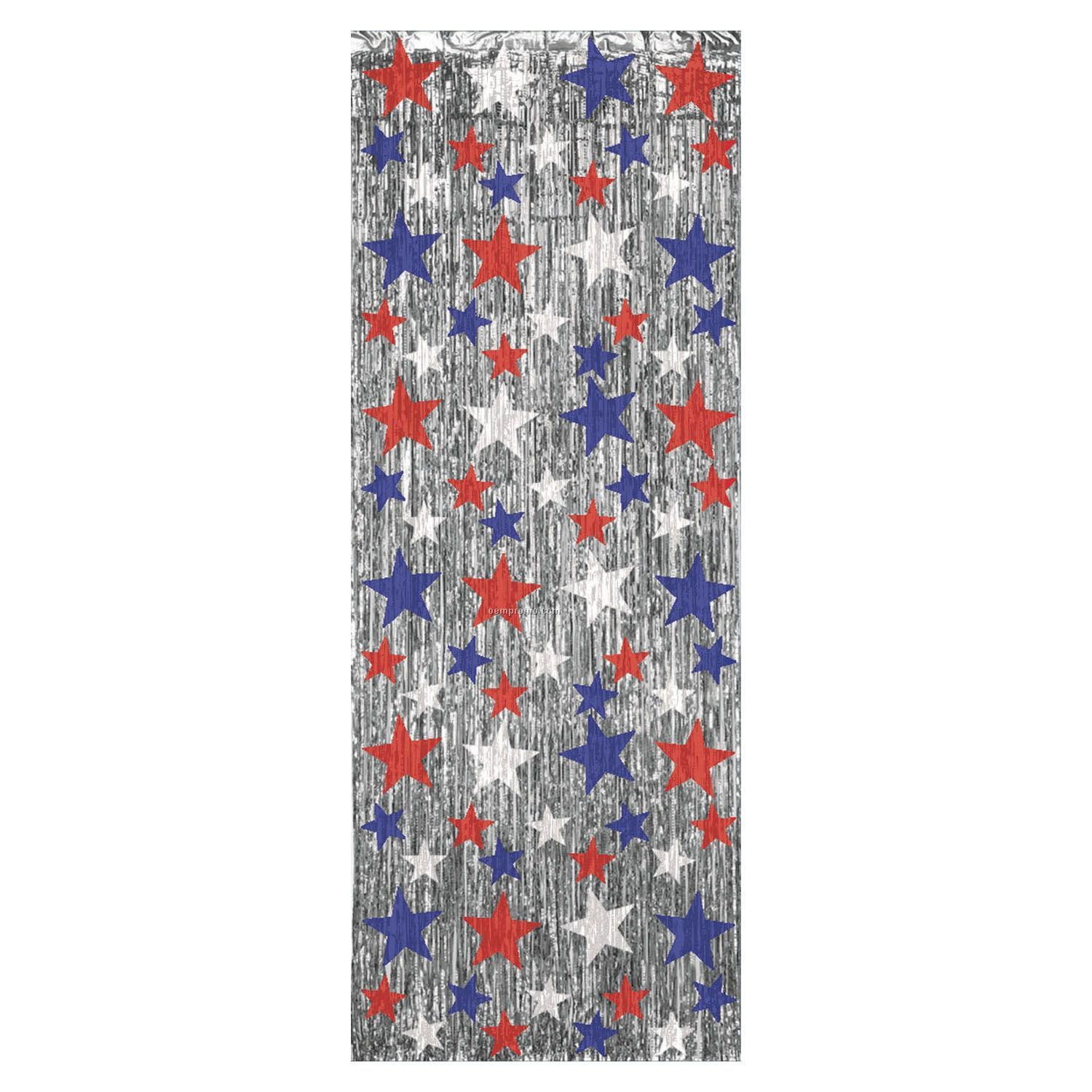 Patriotic Star Flame Resistant Gleam 'n Curtain