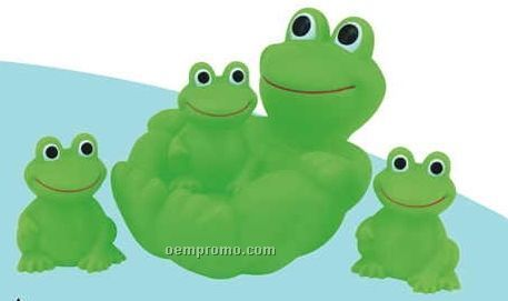 Rubber Frog 4 Piece Big Family