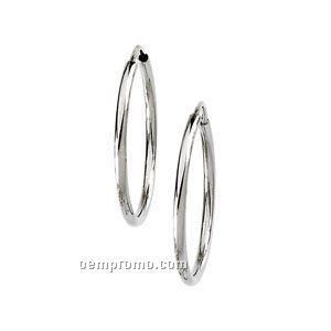 14kw 22mm Ladies' Hoop Earring