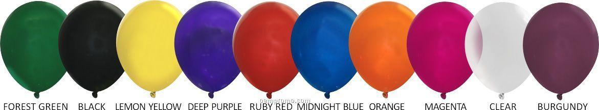"Unimprinted Crystal Latex Balloons (11"")"