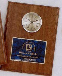 Vertical Walnut Step Edge Wooden Clock Plaques